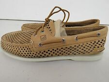 SPERRY TOPSIDER Mens LASER PERFORATED BOAT SHOE STS10599  BROWN 11  19195