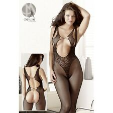 Spitzen-Catsuit completo intimo bodystocking tutina catsuit donna lingerie fetis