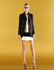 $1195 NEW Authentic Gucci Runway Bi-color Pleated Skirt Black/White, 46, 283907
