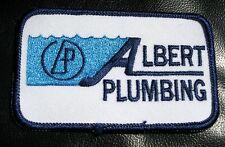 ALBERT PLUMBING EMBROIDERED SEW ON PATCH ADVERTISING UNIFORM