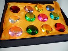28mm Small Crystal Cut Feng Shui Faceted Prism Glass Art Diamond Gift Box Set