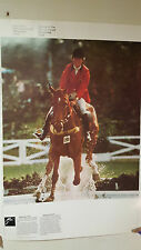 VINTAGE 1976 MONTREAL OFFICIAL COJO OLYMPICS POSTER EQUESTRIAN & ATHLETICS