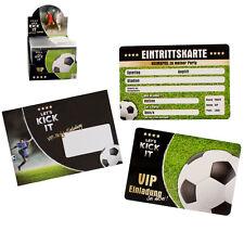 8 Einladungskarten Einladungen Fußball Geburtstag Kinder Kindergeburtstag