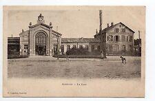 SOISSONS CPA 02 Aisne la gare
