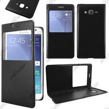 Housse Coque Etui L-View PU Cuir Noir Samsung Galaxy J5 SM-J500F