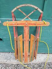 """OLD Flyer Sled Snow Sledge Measures 36"""" Long x 21"""" Wide Signed SNO-FLIGHT"""