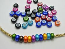 100 Mixed Color Acrylic Rondelle Spacer Beads With Large 5mm Hole