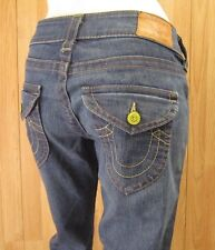 AUTH TRUE RELIGION LEATHER TAG BABY BOOT CUT WOMEN JEANS SZ 28 X 34 VIC-THOR1