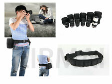 6 Lens Bag + 1 Waist Belt DSLR Camera Lens Protector Pouch Case Bag For Camera