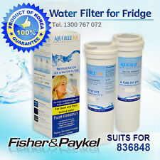 2x Fisher Paykel replacement fridge water filter 836848 Aqua Blue Free shipping