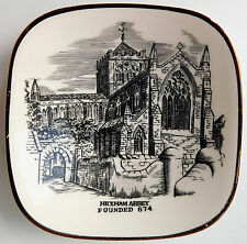 Hexham Abbey pin dish Christian church in Northumberland vintage 1950s plate