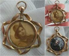 Unusual Edwardian WW1 Era Pendant LOCKET Australian Army Young and Old Photos
