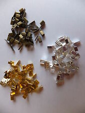 90 x 4mm NECKLACE ENDS SUEDE JEWELERY MAKING FINDINGS EACH SILVER GOLD BRONZE