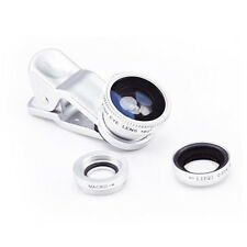 Fish Eye+ Wide Angle + Macro Camera Clip-on Lens 3 in 1 for iPhone/Android