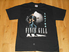 VINTAGE VINCE GILL 1994 TOUR CONCERT T SHIRT ADULT LARGE 1994 COUNTRY MUSIC