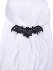 Restyle Lace Crescent Bat Black Hair Clip Barrette Gothic Witchy Hair Accessory