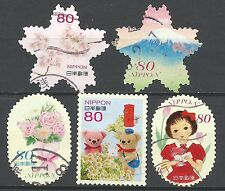 ˳˳ ҉ ˳˳G83 Japan Greeting Spring Elf Children 50 yen 2014 used complete set 日本