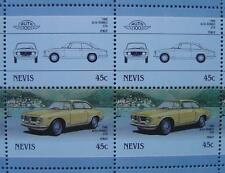 1966 ALFA ROMEO GTA Alleggerita Car 50-Stamp Sheet Auto 100 Leaders of the World