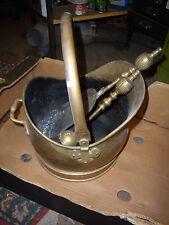 Buona in ottone antico vintage a forma di CASCO Carbone Secchio & Pala & Pennello, altezza 40cm16
