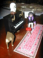 Playmobil 5300  VICTORIAN DOLLHOUSE 5551 Piano PLAYS VINTAGE Rare mansion
