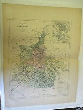 Carte des Ardennes et Plan Mézières & Charleville Malte Brun Gravé par Erhard 19