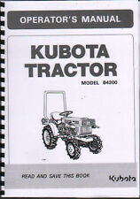 "Kubota ""Model B4200"" Tractor Operator Instruction Manual Book"