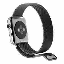 Black Milanese Magnetic Stainless Steel Band Strap 42mm for Apple Watch iWatch