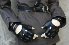 Cool Half Fingerless Leather Gloves for 1/3 SD17 Uncle BJD Doll Accessories GV2
