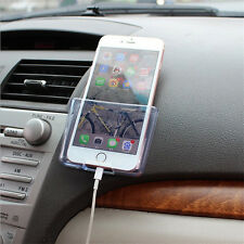 1*Car Storage Bag Dashboard Mount Cell Phone Holder Transparent Easy to Charge