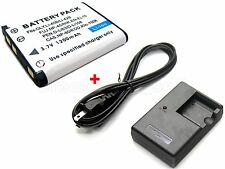 Battery & Charger for Olympus Stylus 830 840 850 SW 850SW 550 WP 550WP 1200 7010