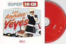CD CARTONNE CARDSLEEVE ANNEES YEYES 15T HALLYDAY/CHAUSSETTES NOIRES/HARDY/BLONDO