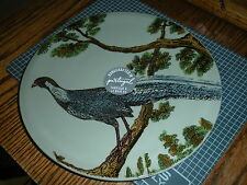 PORTUGAL CERAMIC SALAD / LUNCHEON PLATE (s) HANDCRAFTED WITH PEACOCK ART DESIGN