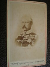 CDV old photograph Prince Friedrich Karl of Prussia c1870s Germany