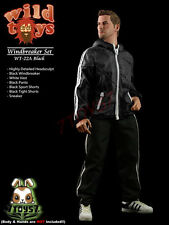Wild Toys 1/6 Windbreaker_ Black Set w/ Head_Sports Jacket shorts sneaker WT017A
