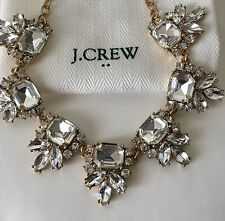 NWT J. Crew 100% Authentic CRYSTAL ACCENT Gold Tone STATEMENT NECKLACE