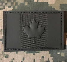 3D PVC CANADA FLAG RUBBER CANADIAN TACTICAL COMBAT ACU VELCRO® BRAND PATCH