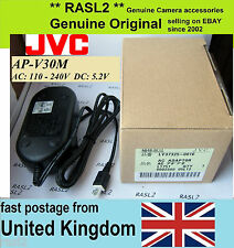 Genuino Original JVC Adaptador De Corriente Alterna AP-V30 M U 750 HD MS215 E GZ MG HM 620 550