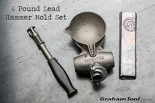 Lead Hammer Mold Set, 6 Pound, Perfect For General Non-Marring Hammer Work, USA