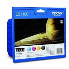 LC1100VALBP KIT 4 CARTUCCE INK BK/C/M/Y BROTHER ORIGINALE DCP-395/J715/6690/MFC-