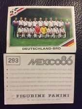 Panini - Mexico 86 World Cup 293 Team West Germany BRD Deutschland
