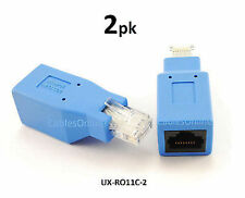 2-PACK Cisco Console Rollover Adapter for RJ45 Ethernet Network Cables, UX-RO11C