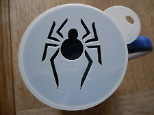 Laser cut spider design coffee and craft stencil