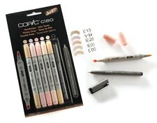 COPIC CIAO MARKER - 6 PEN SET - SKIN TONE SET - TWIN TIPPED