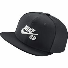 New Nike SB Icon Snapback Hat Black White