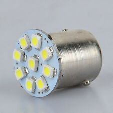 10pcs White Car 1156 Ba15s 9 SMD 1210 LED Turn Signal Rear Light Bulb D077