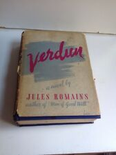 VERDUN, a novel  by Jules Romains (1939 HC/DJ 1st US printing )