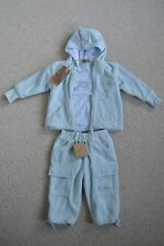 BNWT TIMBERLAND 9M BOYS BLUE JACKET CARGO PANTS TROUSERS TOP TSHIRT 3 PC SET