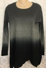 Donna Karan Cashmere Sweater Grey And Black Hombre Nwt Size Xs P