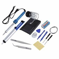 14-in-1 60W 110V Electric Soldering Tools Kit Set Iron Stand Desoldering Pump DI