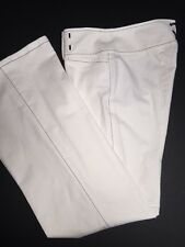 Nanette Lepore women's white 'Nico Las Vegas' wide leg cotton blend pants